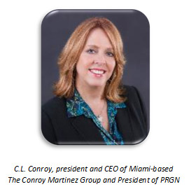 C.L. Conroy, president and CEO of Miami-based The Convoy Martinez Group and President of PRGN